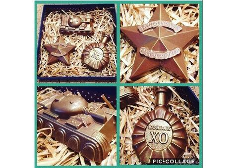 Подарки на все праздники и торжества к 14, 23 февраля и 8 марта. Шоколад ручной работы.