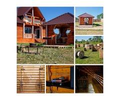 Баня на дровах, беседка, мангал. Коттедж для отдыха.